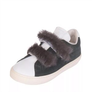 Leather crown suede sneakers